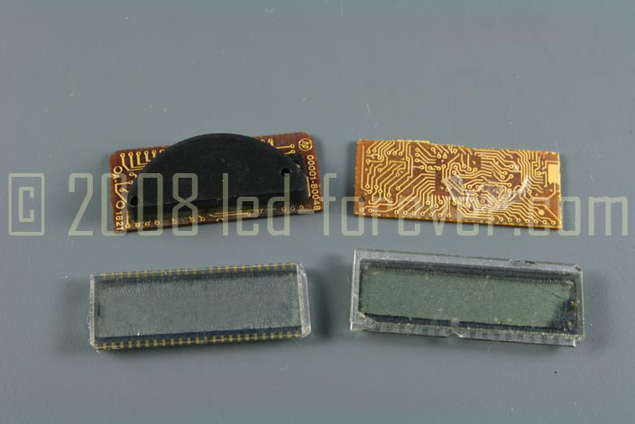 HP-02 Elektronic parts and LC displays