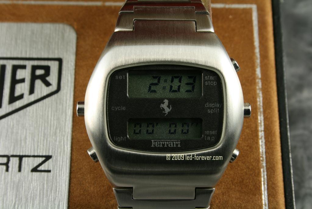 Heuer Chronosplit LCD Ferrari 4