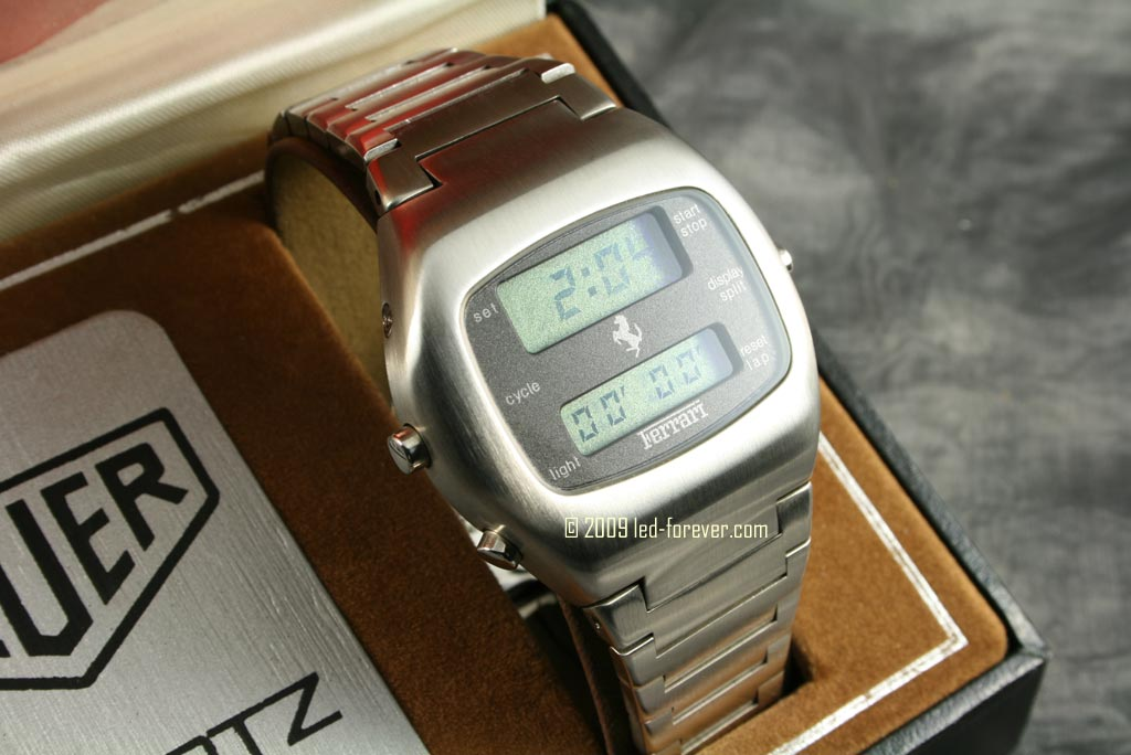 Heuer Chronosplit LCD Ferrari 5