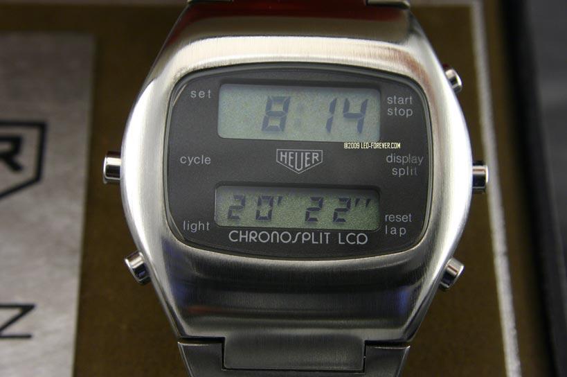Heuer Chronosplit LCD Bundeswehr 3