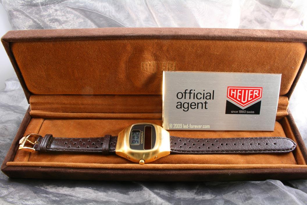 Heuer Chronosplit gold strap 2