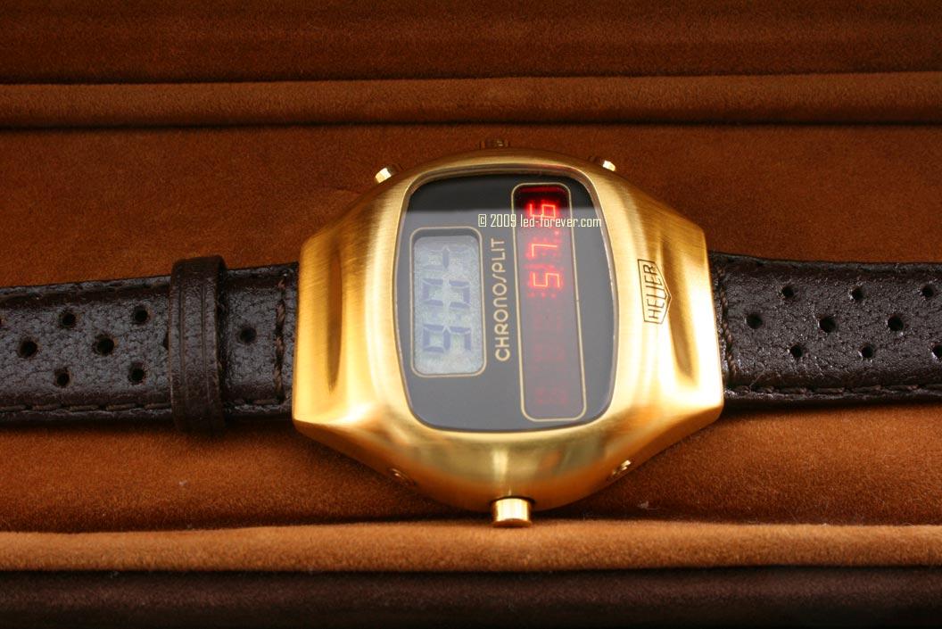 Heuer Chronosplit gold strap 3