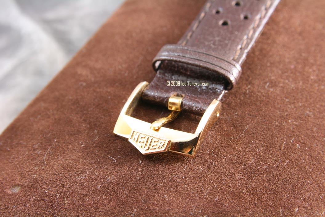 Heuer Chronosplit gold strap 7