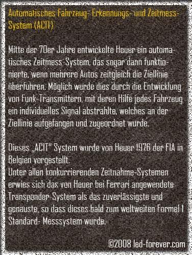 Heuer Chronosplit LED 8