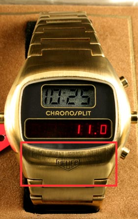 Chronosplit LED gold detail