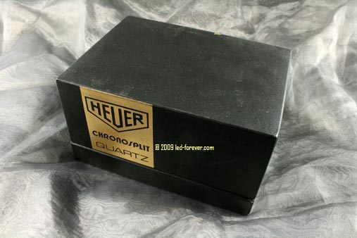 Heuer Chronosplit LED gold box