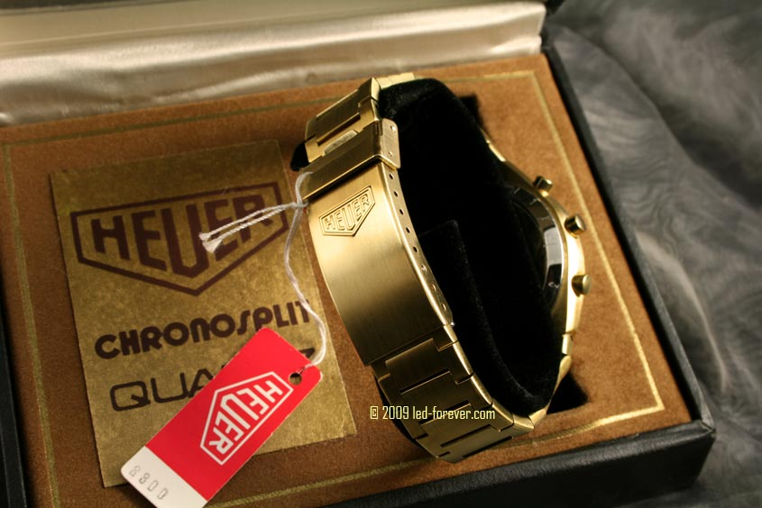 Heuer Chronosplit LED gold 8