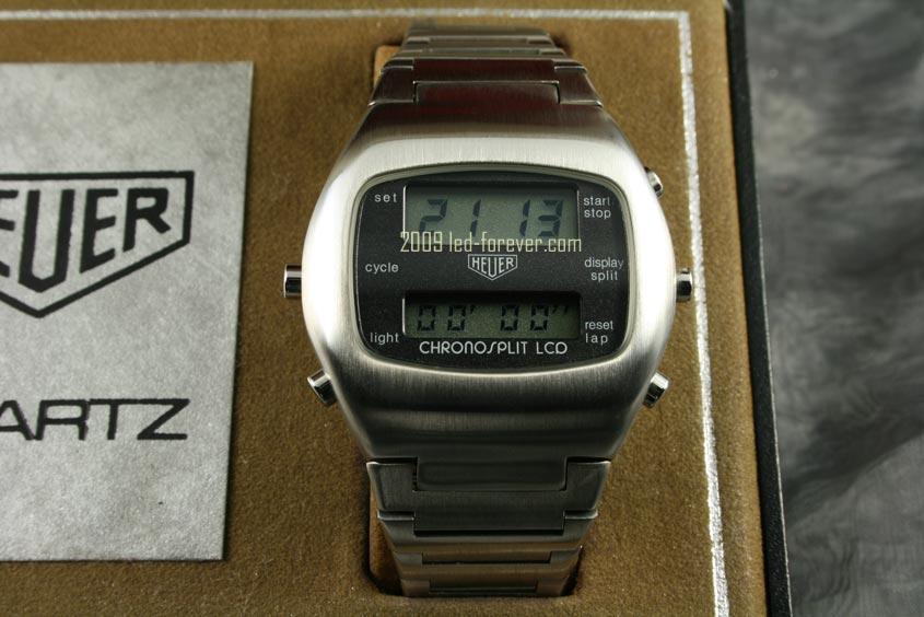 Heuer Chronosplit LCD Stahl 2