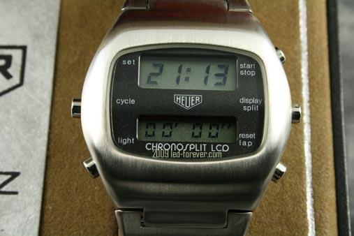 Heuer Chronosplit LCD Stahl 1