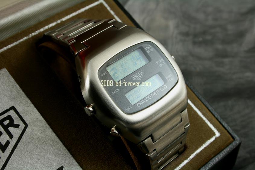 Heuer Chronosplit LCD Stahl 4