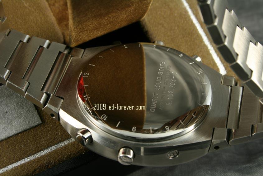 Heuer Chronosplit LCD Stahl 8