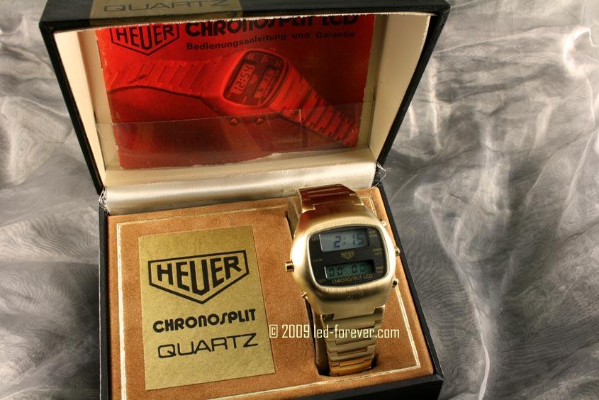 Heuer Chronosplit LCD Gold 1