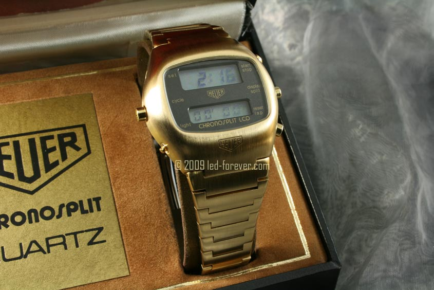 Heuer Chronosplit LCD Gold 2