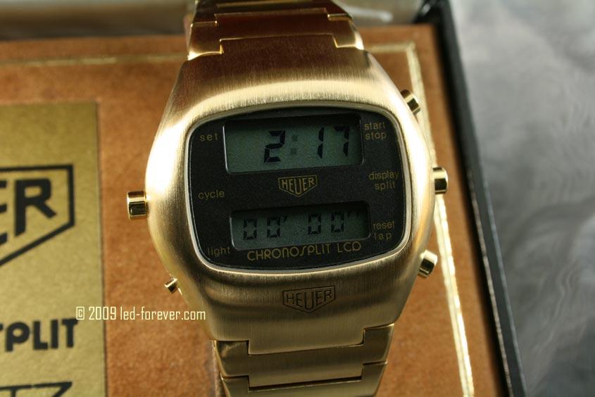 Heuer Chronosplit LCD Gold 3