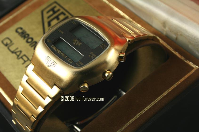 Heuer Chronosplit LCD Gold 6