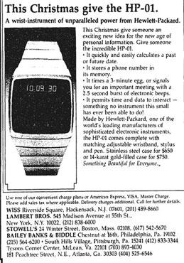 HP-01 Werbung Weihnachten 1977