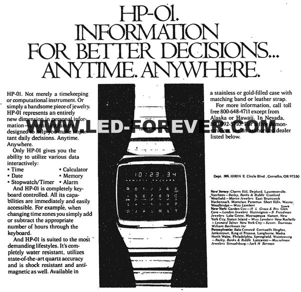HP-01 ad Oct. 1978