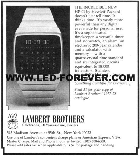 HP-01 Werbung Lambert Brothers