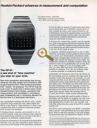 HP-01 Werbung Time Machine