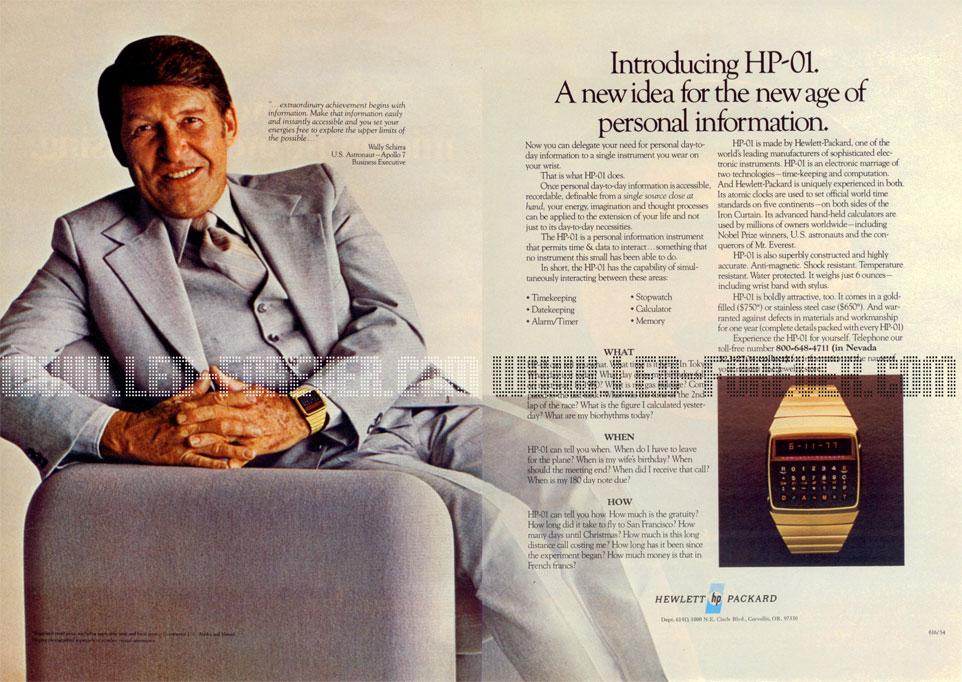 HP-01 ad Wally Shirra