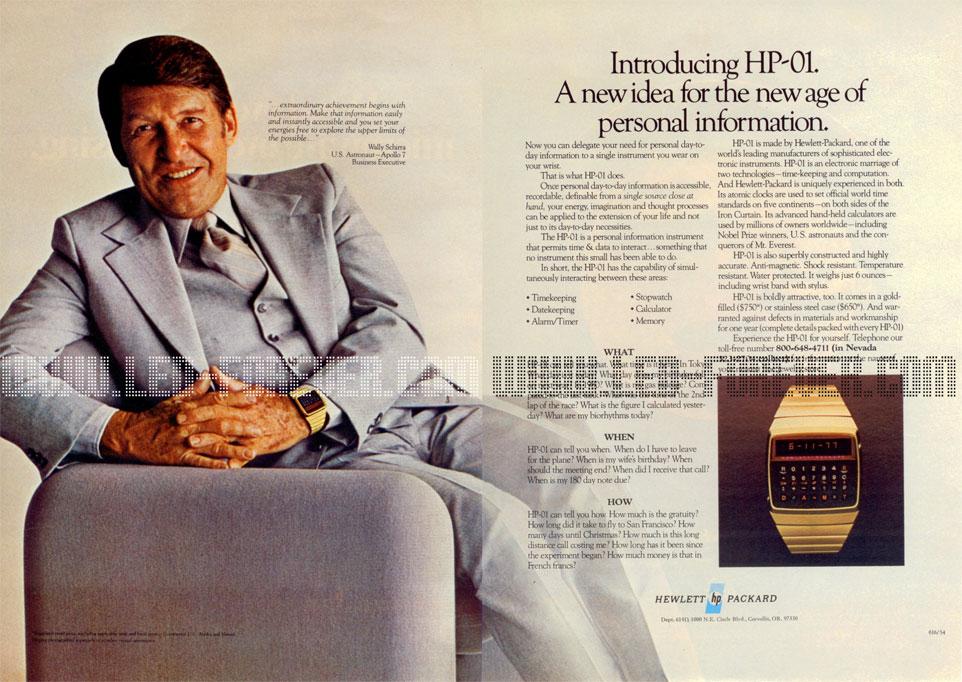 HP-01 Werbung Wally Schirra