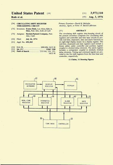 HP-01 Patent 26. Juli 1974