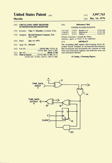 HP-01 Patent Dec. 14 1976
