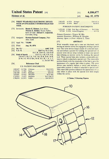 HP-01 Patent Aug. 15 1978