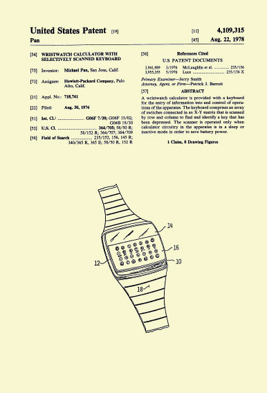 HP-01 Patent 30. August 1976