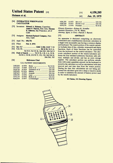 HP-01 Patent Jun. 19 1979