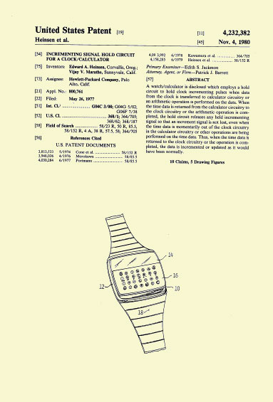 HP-01 Patent Nov. 4 1980