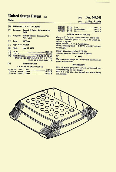 HP-01 Patent Sep. 5  1978