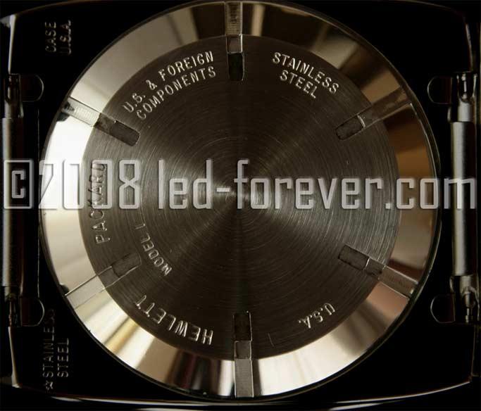 HP-01 prototype raised keys chrome back