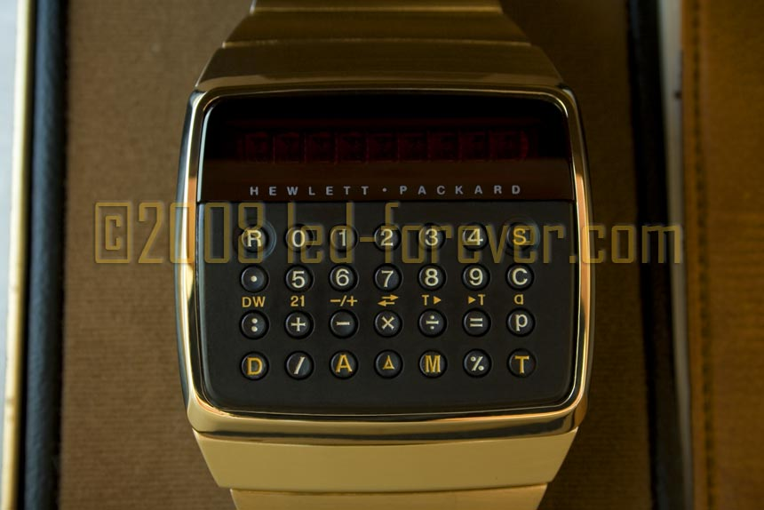 HP-01 prototype raised keys gold