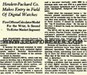HP-01 Einführung Juni 1977