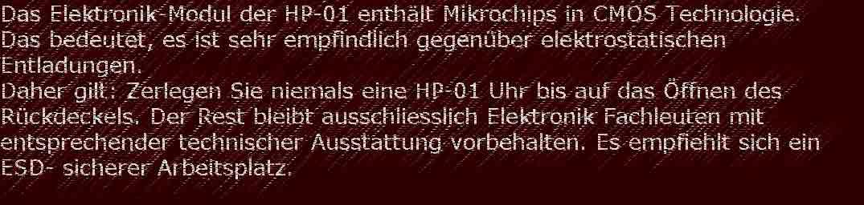 HP-01 Wartung Reparatur 1