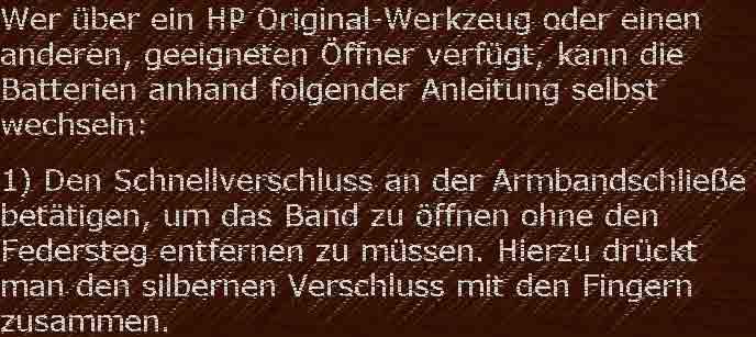 HP-01 Wartung Reparatur 6