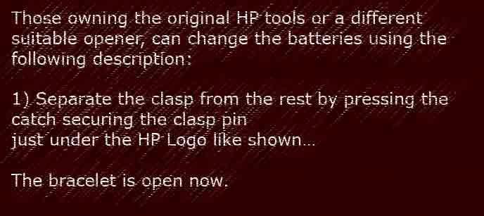 Hp Service Pin