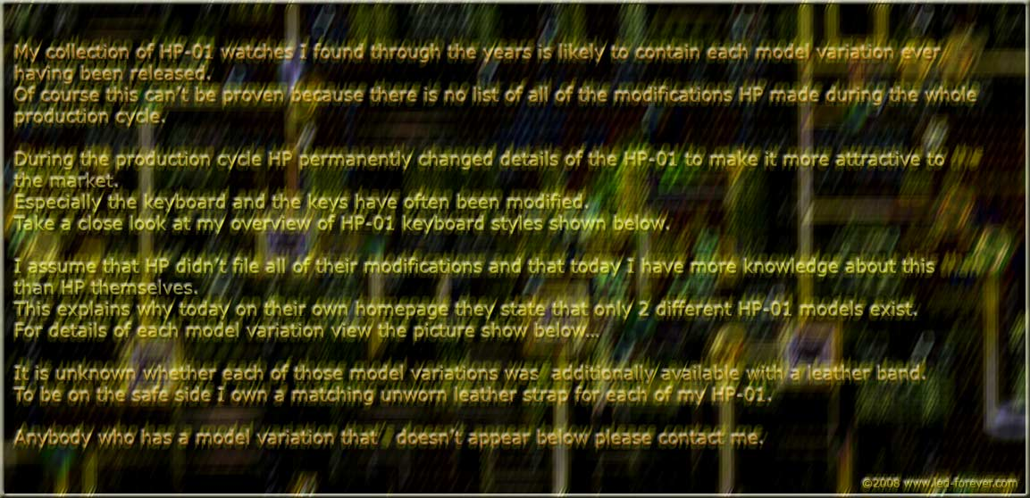 HP-01 models #2