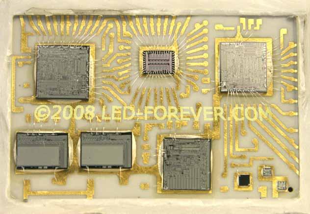 HP-01  LED  Uhr  Modul innen