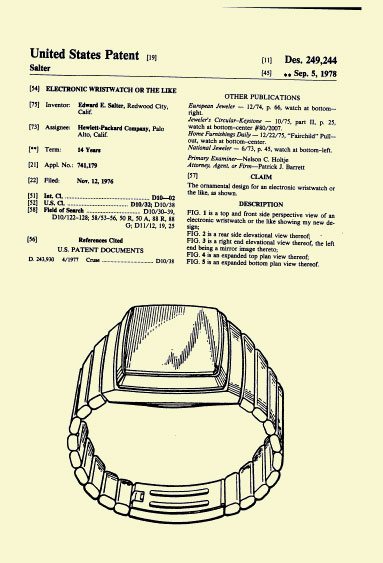 HP-01 Patent Sep. 5  1978 -2