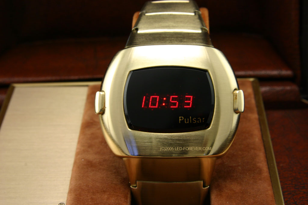 Pulsar Time Computer LED watch